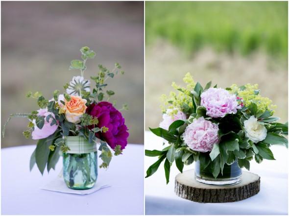 Rustic Flower Centerepieces
