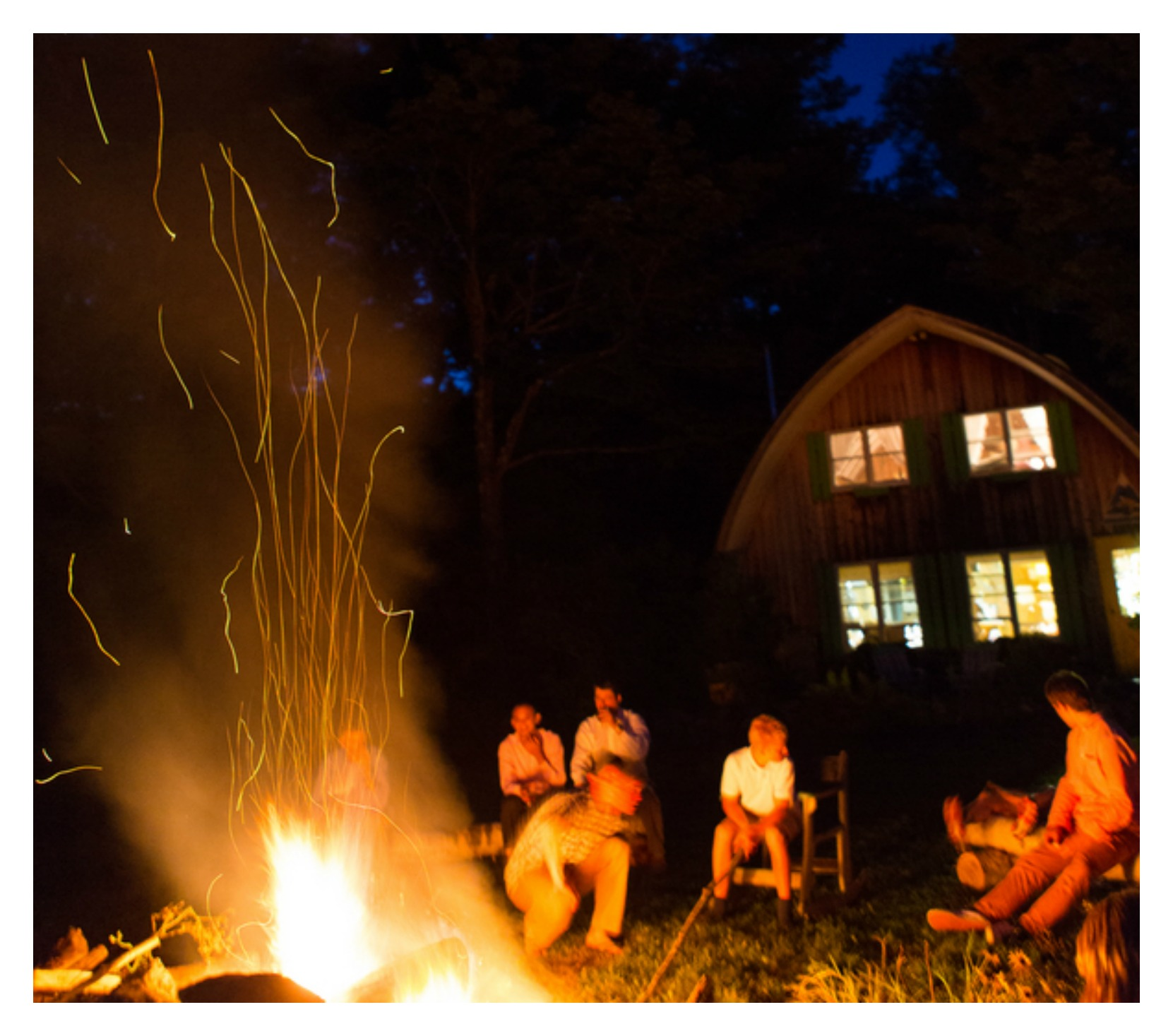 Backyard Bonfire Band : Colorful Vermont Wedding  Rustic Wedding Chic