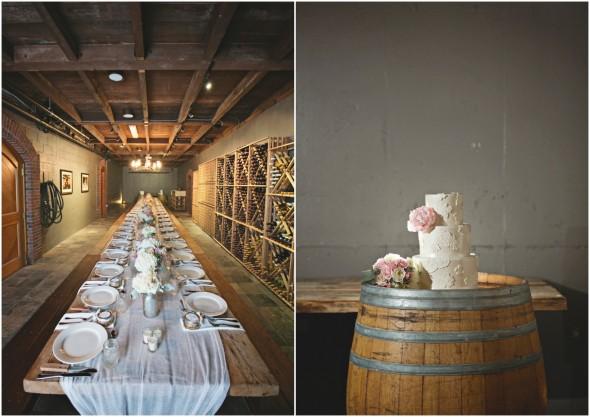 Vineyard Wedding Table and Wedding Cake