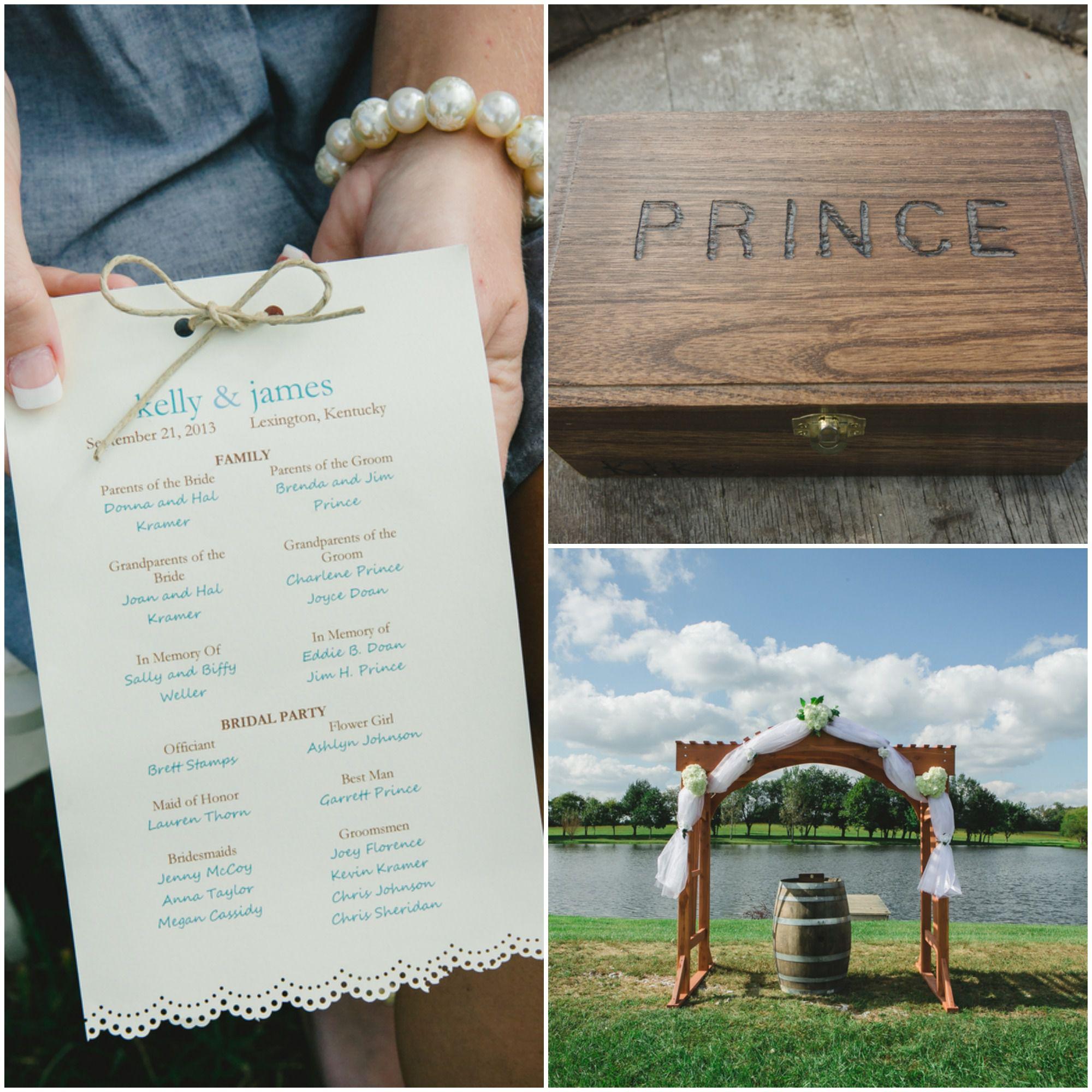 Outdoor Wedding Ceremony No Music: Light Blue Country Wedding