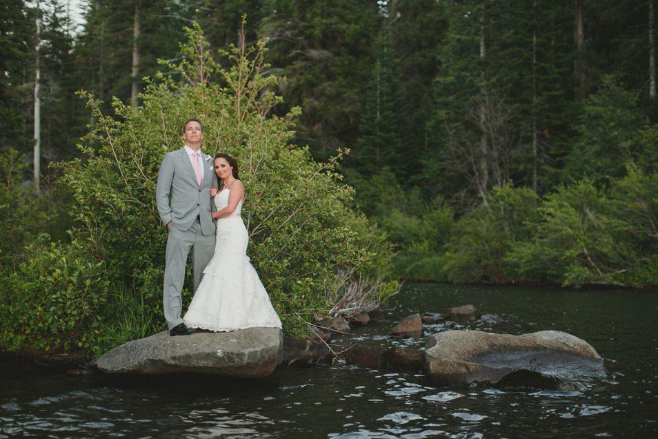 Lakeside rustic wedding