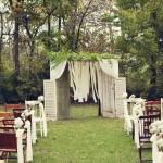 Beautiful Farm Wedding Ceremony Backdrop