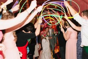 Country Wedding Glow Stick Send-Off