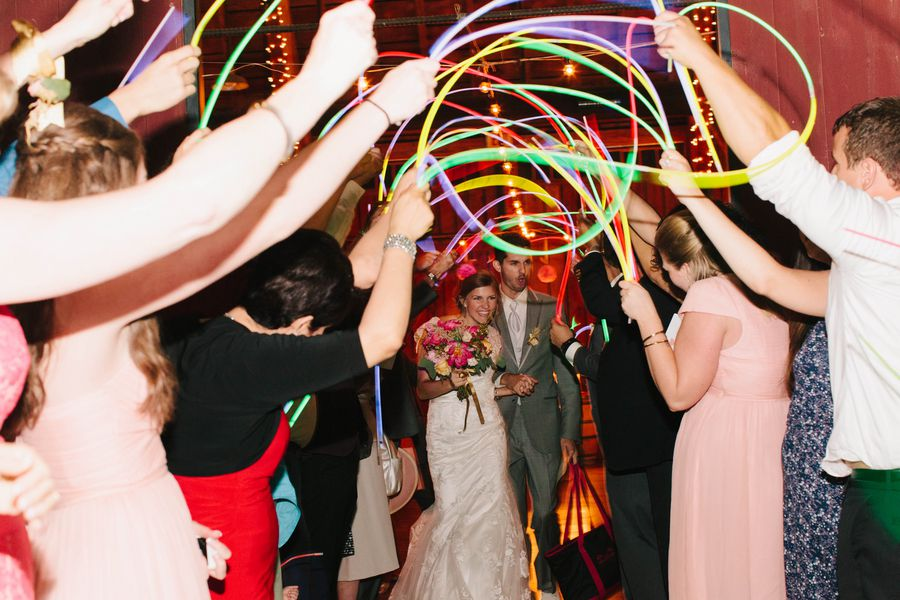 Country Wedding Glow Stick Send-Off