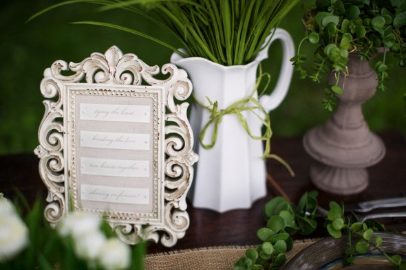 Outdoors Vintage Chic Wedding