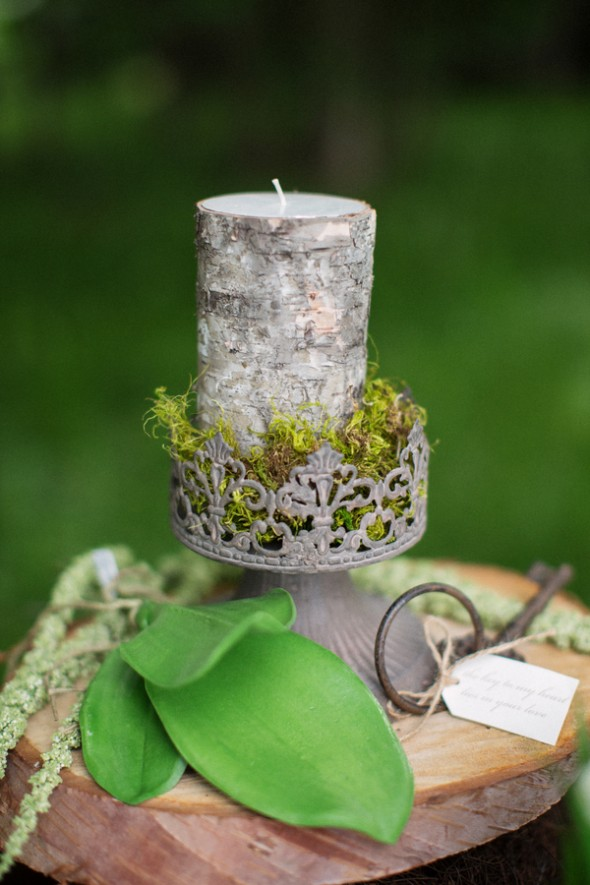 Birch Candle For Wedding