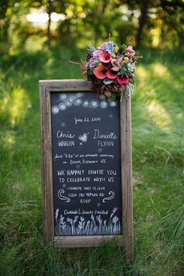 Rustic Chalkboard For Wedding
