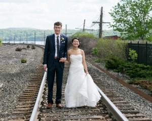 Hudson River Wedding Bride and Groom