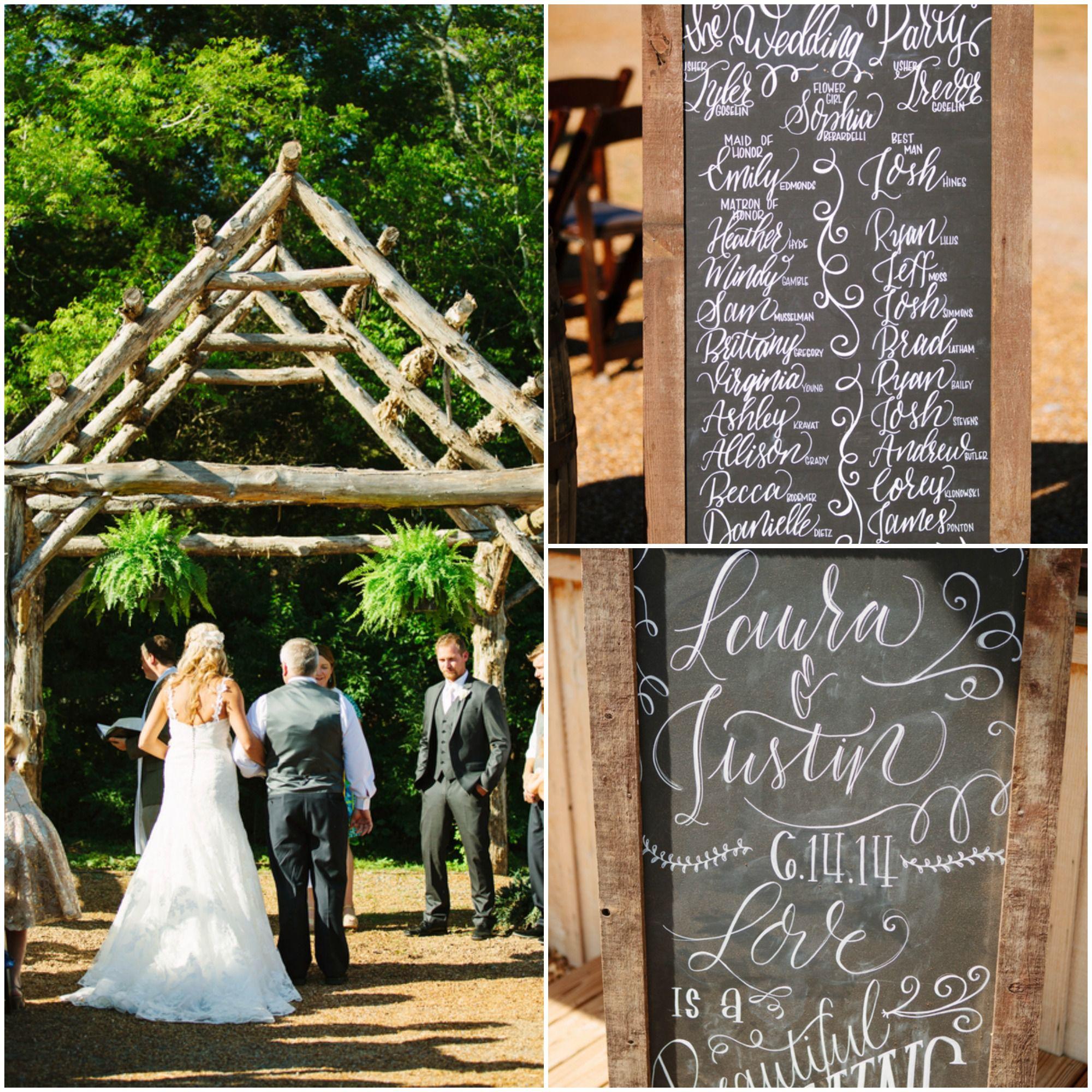 Outdoor Wedding Ceremony: Tennessee Organic Farm Wedding