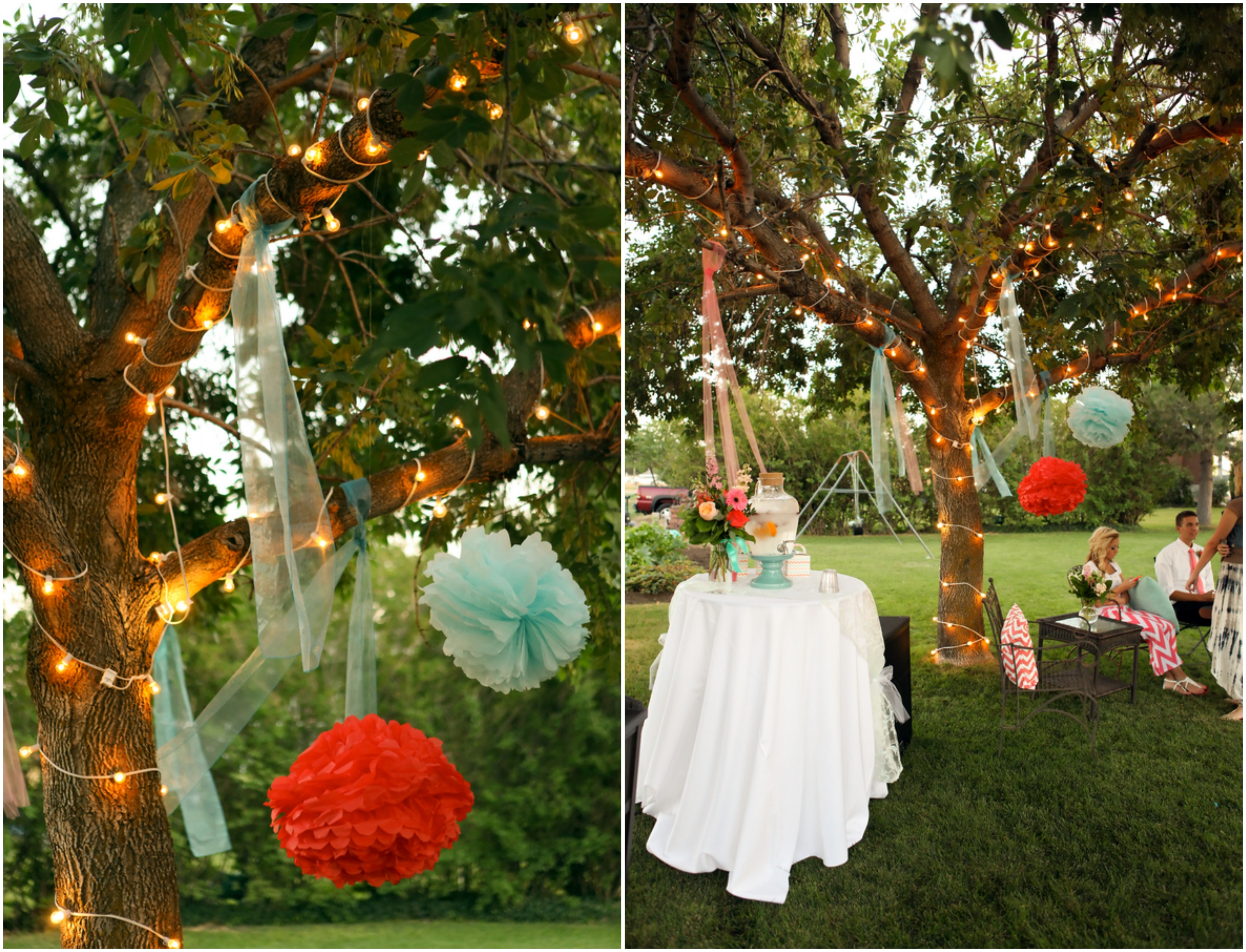 Bright and colorful backyard wedding rustic wedding chic for Backyard wedding decoration ideas