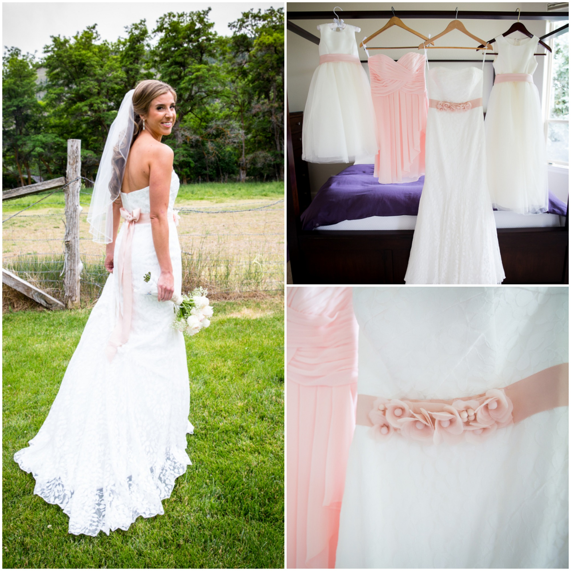 Light Pink Vintage Country Wedding - Rustic Wedding chic