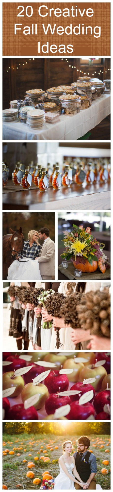 Creative fall wedding ideas rustic chic
