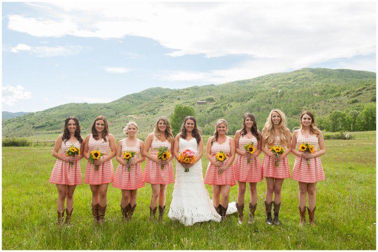 Utah rustic ranch wedding rustic wedding chic for Striped bridesmaid dresses wedding