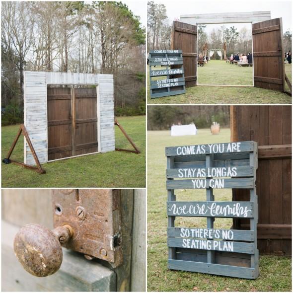 Rustic Door Wedding Ideas: A Charming Southern Farm Wedding