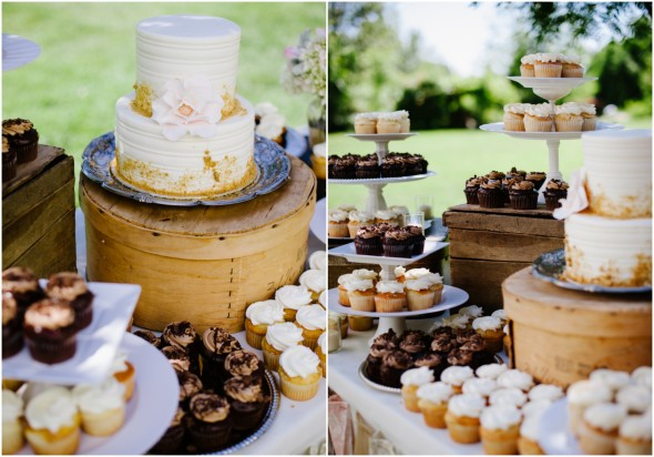 Wedding Cake and Sweets Table
