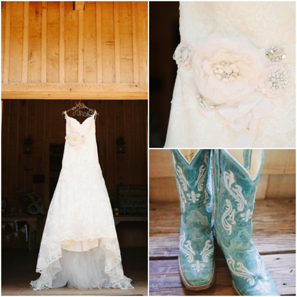 Country Wedding Dresses To Wear With Boots: Tennessee Organic Farm Wedding