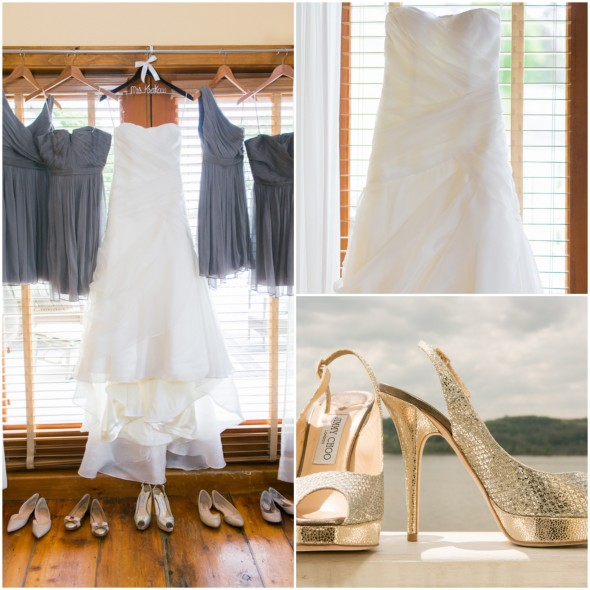 Rustic Chic Wedding Shoes: Quaint Hudson River Town Wedding