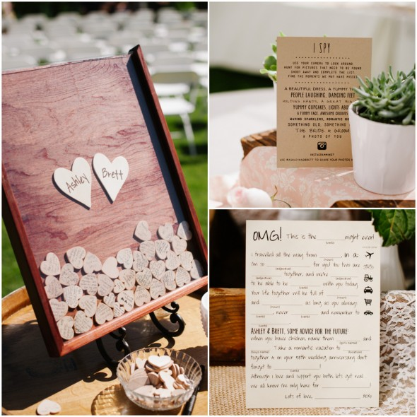 Country Wedding Guest Book and Games