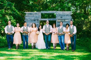 Rustic Vintage Bridal Party