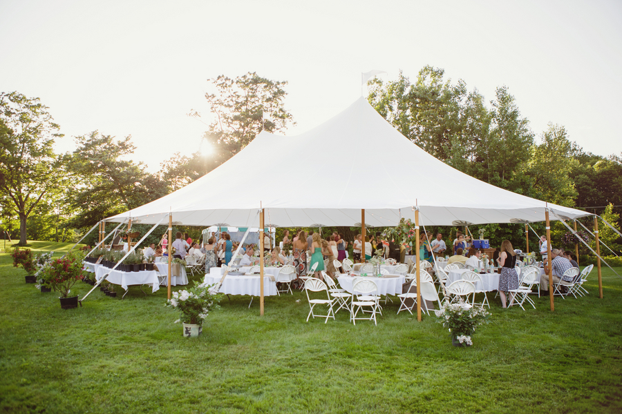 Tent Wedding In Backyard : Casual Backyard Wedding  Rustic Wedding Chic