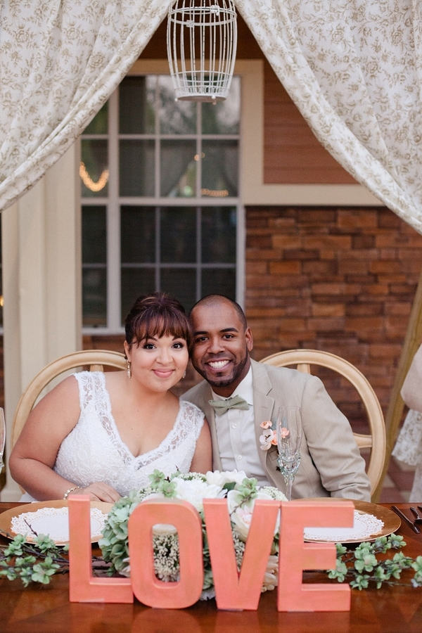 Peach And Green Vintage Style Wedding Rustic Wedding Chic