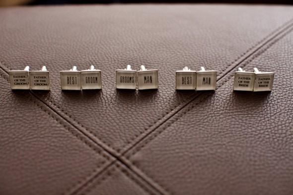 Custom Cufflinks for the Groom and Groomsmen