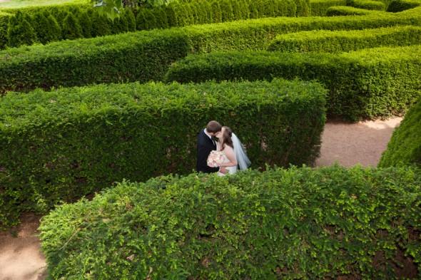 Bride and Groom at Arboretum