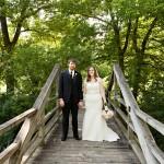Bride + Groom at Arboretum Wedding