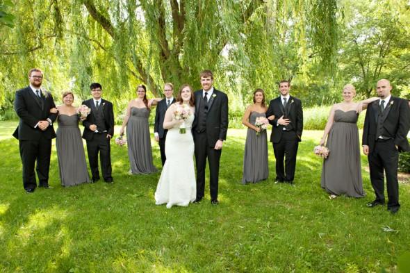 The Wedding Party at a Garden Wedding