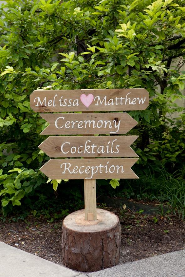 Woden Wedding Sign