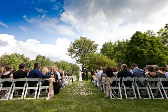 Outdoor Wedding Ceremony at Arboretum