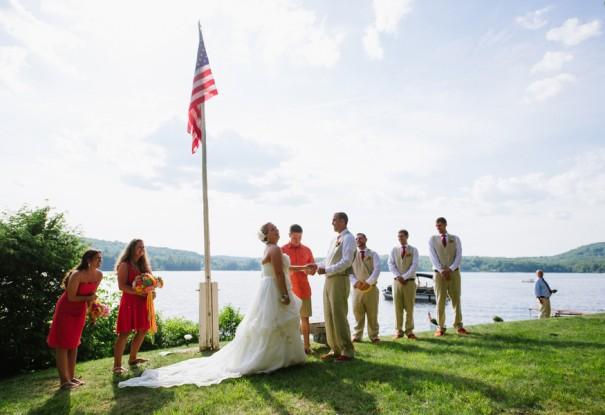 Colorful Lakeside Wedding: Andrea + Michael