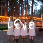 Love Spelled Out By Bridesmaids