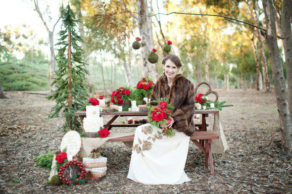 Red, Green & White Wedding Theme