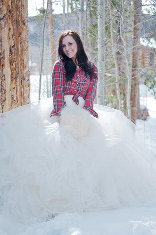 Bride In Plaid