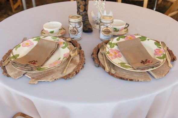 Country Wedding Placesetting
