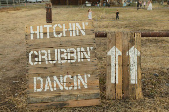 Country Wedding Signs