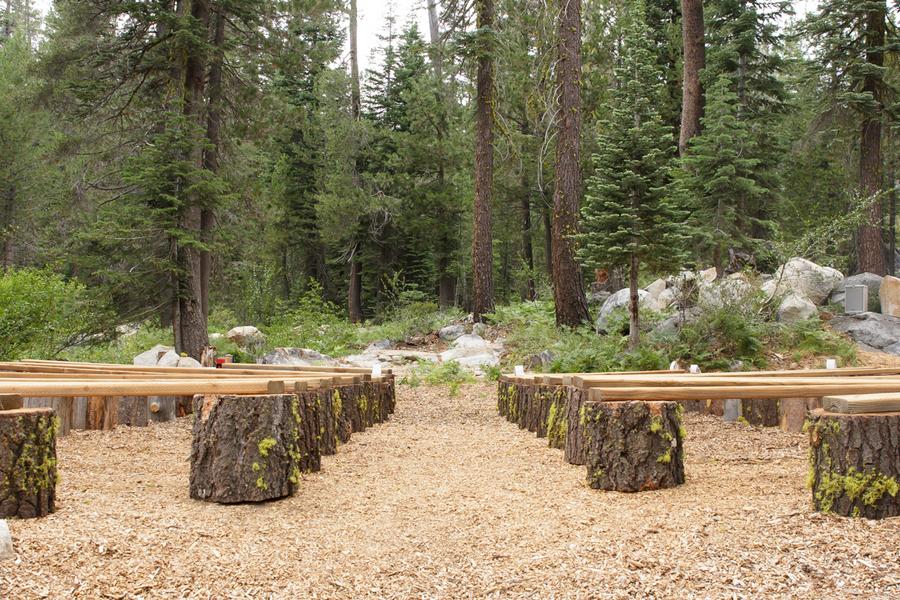 Outdoor Woods Wedding Ceremony: California Cabin Wedding