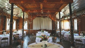 Rustic Wedding Venue with Cafe Lights