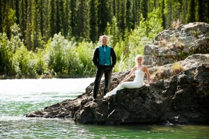 Rustic Lakeside Wedding Bride and Groom