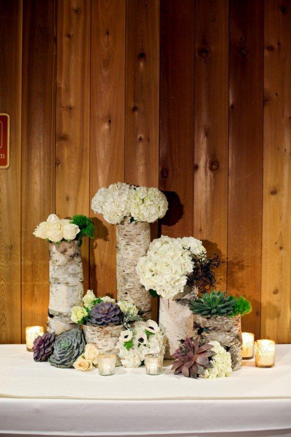 Birch Wedding Centerpieces