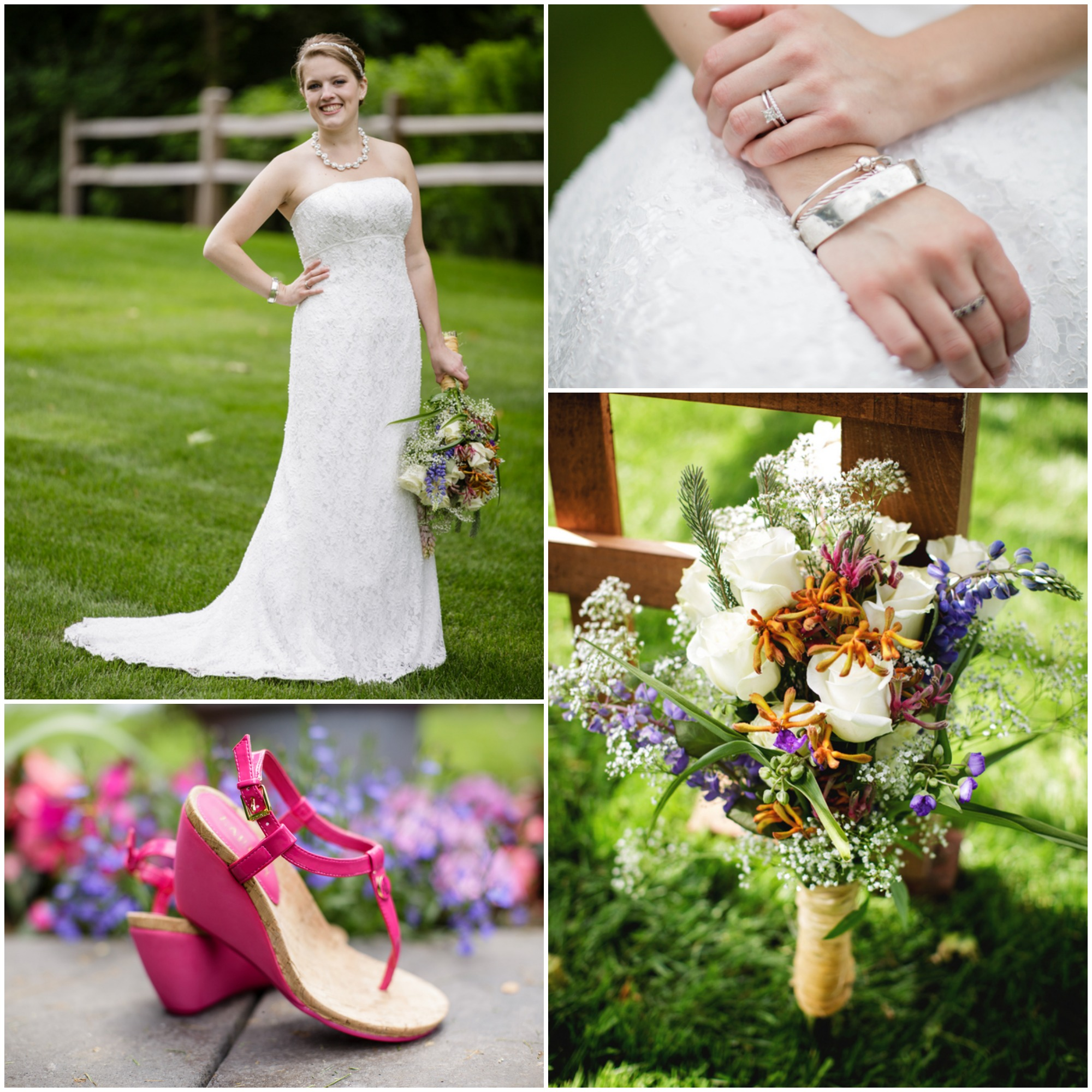 Rustic Chic Wedding Shoes: Casual Backyard Wedding