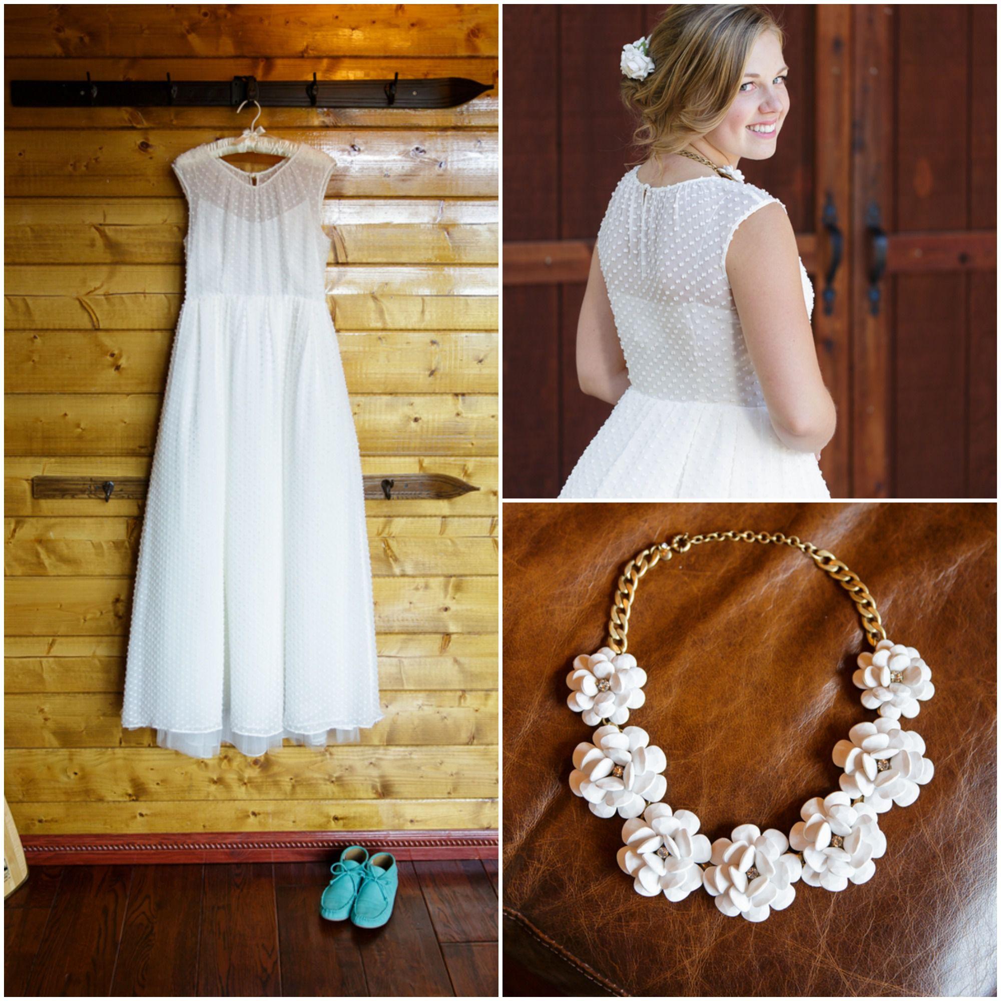 California cabin wedding rustic wedding chic for Dotted swiss wedding dress