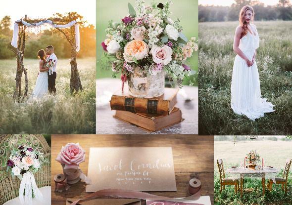 Earthy & Elegant Wedding Inspiration - Rustic Wedding Chic