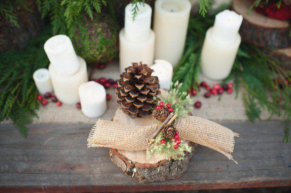 Pinecone wedding Decor