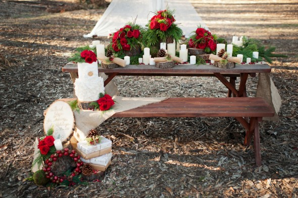 Red & Green Wedding Color Theme