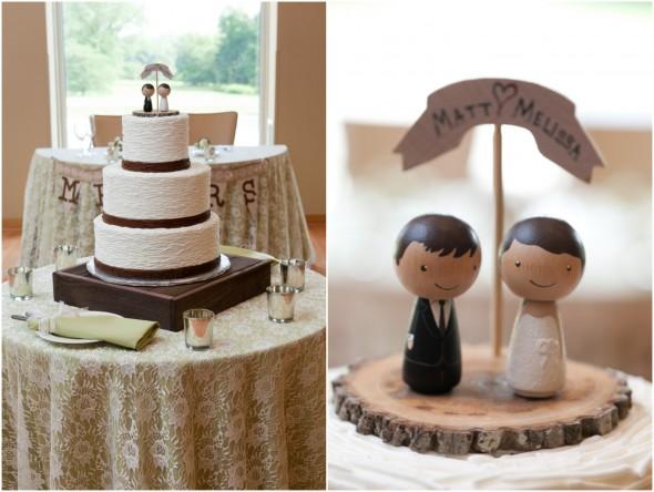 White and Chocolate Wedding Cake
