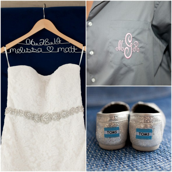 Wedding Dress Teamed with Toms Shoes