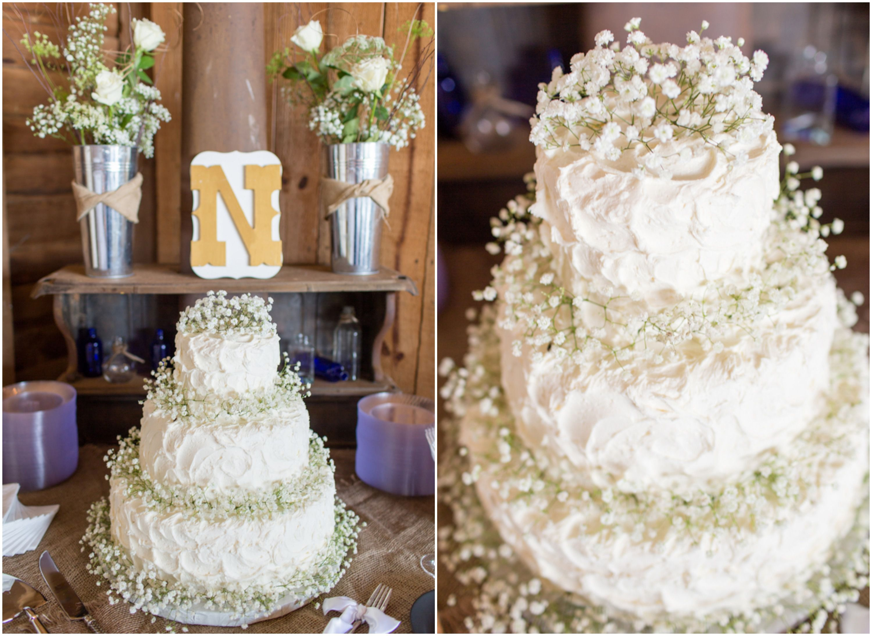 babys breath wedding cake shenandoah barn wedding rustic wedding chic 11002
