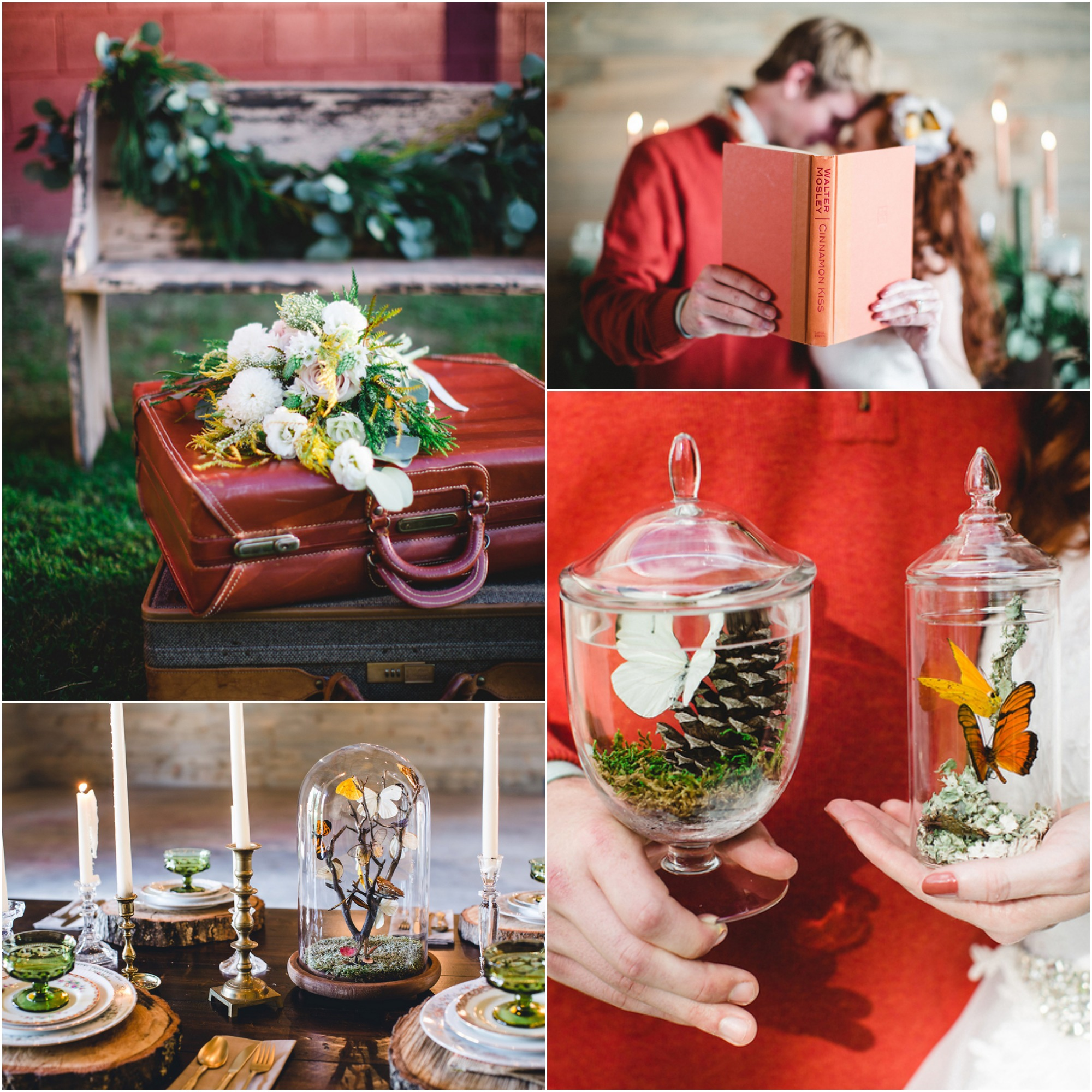 Winter Vintage Barn Wedding Inspiration
